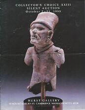 HURST GALLERY AFRICAN OCEANIC PRE-COLUMBIAN ART Silent Auction Catalog 1995