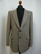 Men's C&A Brown Herringbone Tweed Jacket Blazer 42L