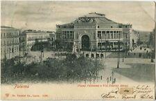 1901 Palermo Piazza Politeana Via Emerico Amari Carrozze - FP B/N VG ANIM