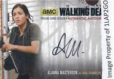 Walking Dead Season 4 Part 2 AM2 Alanna Masterson Autograph Auto Card Free Ship
