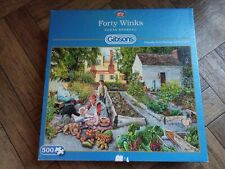 "Gibsons 500 Piece Jigsaw Puzzle ""Forty Winks"""