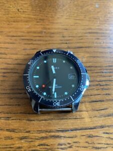 Vintage Timex Red Dot Lolipop Diver Watch manual wind running