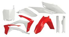 HONDA CRF 250 450 2013- ACERBIS PLASTIKSATZ PLASTIK KUNSTOFFTEILE ROT WEISS OEM