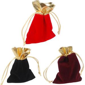 Schwarzes Samtbeutel Schmucktäschchen Geschenkbeutel Geschenktäschchen