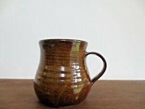 Studio Pottery Mug Margaret West Castle Hedingham Essex Brown Vintage