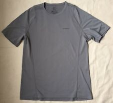 Men's Patagonia Short-Sleeved S/S Fore Runner Gray Lightweight T Shirt Tee Sz L