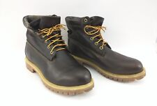 Timberland x Woolrich Dark Brown All Leather Wool Lined Casual Boots Size 10M