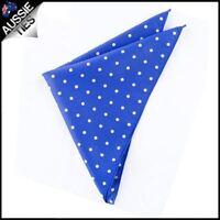 Royal Blue Polka Dot Pocket Square Handkerchief hanky