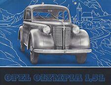✇ Original Prospekt brochure OPEL OLYMPIA 1.5 ltr. von GM 1950er-Jahre