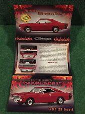 "Danbury Mint ""The 1968 Dodge Charger R/T""  Brochure!"