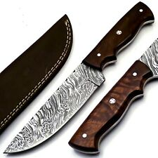 Hand Forged Damascus Hunting/Skinner Knife 167 Layers With Leather Sheath