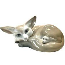 New listing Lladro Fox and Cub Porcelain Figurine