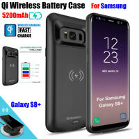 Qi Wireless Charging Battery Power Bank Charger Case for Samsung S8Plus 5200mAh