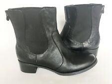 Etienne Aigner Womens Black Leather Back Zipper Ankle Boots Gusset Size 8 Bootie