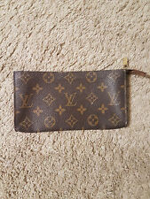 LOUIS VUITTON Bucket GM Monogram Pouch Cosmetic Case Bag Clutch Holder Brown