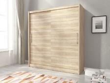 NEW MODERN BEDROOM SLIDING DOOR WARDROBE 5ft10inch (180cm) - SONOMA OAK