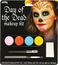 Morris Costumes Complete Outfit Day Of The Dead Makeup Kit Female. FW5618F