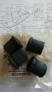 Nissan Datsun Patrol 160 260, lower rear shackle bushes, genuine pack of four.