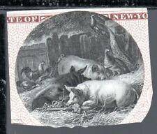 Obsolete Bank Note 'Whole Hog' Vignette From Genuine Bank Note 1800s
