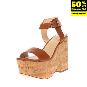 PRIMADONNA COLLECTION Ankle Strap Clog Sandals Size 39 UK 6 US 9 Cork Outsole