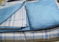 Pottery Barn Teen Multi Colors Colton Plaid Full Queen Comforter Sheet Set Sham