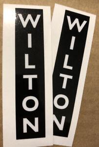 "Wilton Tool Vise Vertical Black & White Jaw Decal 3 1/2"" Set 2"