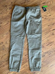 Boy's Youth L VOLCOM elastic waist  Repreve Frickin Jogger Pants tapered NWT