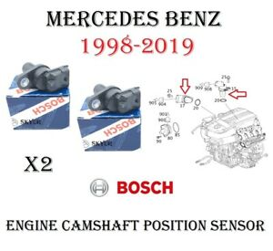 NEW Mercedes Camshaft Cam Position Sensor Set Of 2 For W204 W216 W211 W164 W221