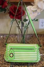 nwot KATE SPADE Lime Green Striped FLAP Shoulder Bag #PXRU0885 (PU220