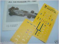 FERRARI F1 PRESENTAZIONE GP BRASILE 1986 1/43 DECALS
