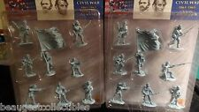 CONTE CIVIL WAR UNION  Yankee Gettysburg plastic SETs #1 Blue 16 figs