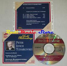 CD GENNADI ROZHDESTVENSKY francesca rimini  Symphony 6 B TCHAIKOVSKY lp mc dvd