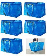 5 IKEA FRAKTA LARGE 71L Blue REUSABLE  BLUE SHOPPING LAUNDRY GROCERY TOTE BAG