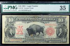 "1901 $10 Legal Tender ""Bison Note"" PMG 35 FR# 116 Vernon/Treat"