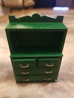 Vintage Epoch Sylvanian Families Calico Critters 1985 Dollhouse Green Hutch