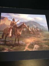 "Indian Chief W/ Village Large 16"" X 20"" Picture Prints New In Lithograph Dealer"