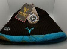 NWT HOT SHOT BEANIE HAT Reversible Gray/blue Camo Fleece Knit REALTREE