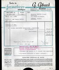 "BOUSSAC (23) CONSTRUCTION de FERMETURES METALLIQUES ""G. GIBARD"" en 1961"