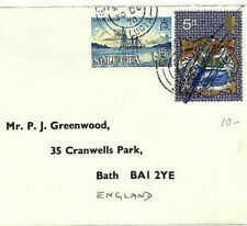More details for st.lucia & gb mixed franking transatlantic cover 1970 bath {samwells-covers}ab45