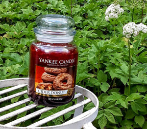 Yankee Candle CIDER DONUT a Passion for Fragrance  22 oz Large Jar Unused Rare!