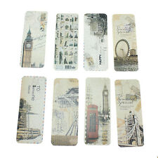 30 Pcs Retro London Paris Bookmark Flags Book Mark Page Marker .Novelty Set Gift