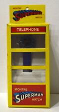 Vintage Child 1983 Lynkar SUPERMAN Digital WATCH w DISPLAY BOX MIB Canada Only