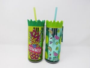 Cool Gear Double Wall Insulated 16 oz. Water Bottle w/ Straw