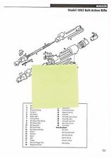 MAUSER MODEL 1893, 1894 BOLT-ACTION RIFLE.  Exploded View/Parts List 2011 Ad