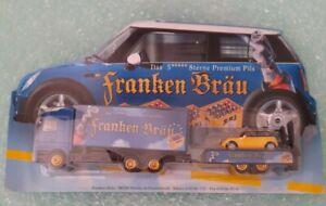Franken Brau, German Beer Lorry Model With Trailer & Mini