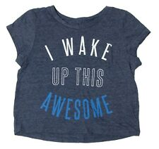"""Old Navy Girls Size XS TP 5 """"I Wake Up This Often"""" Blue T-Shirt"""