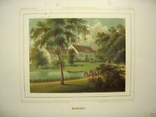 1 Orig. Farblitho.v Duncker 1860  WARCHAU   RITTERGUT