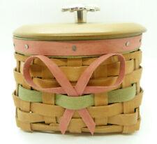 Longaberger 2009 Mothers Day Basket Protector & Lid Flower Knob Combo