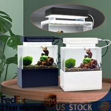 New listing 0.78L Aquarium Led Acrylic Betta Fish Tank Desktop Light Water Pump Filter