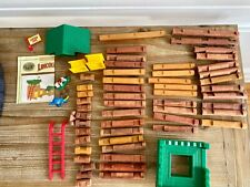 Lincoln Logs Real Wood Lot of ~500 pieces including Wild West Frontier #00946